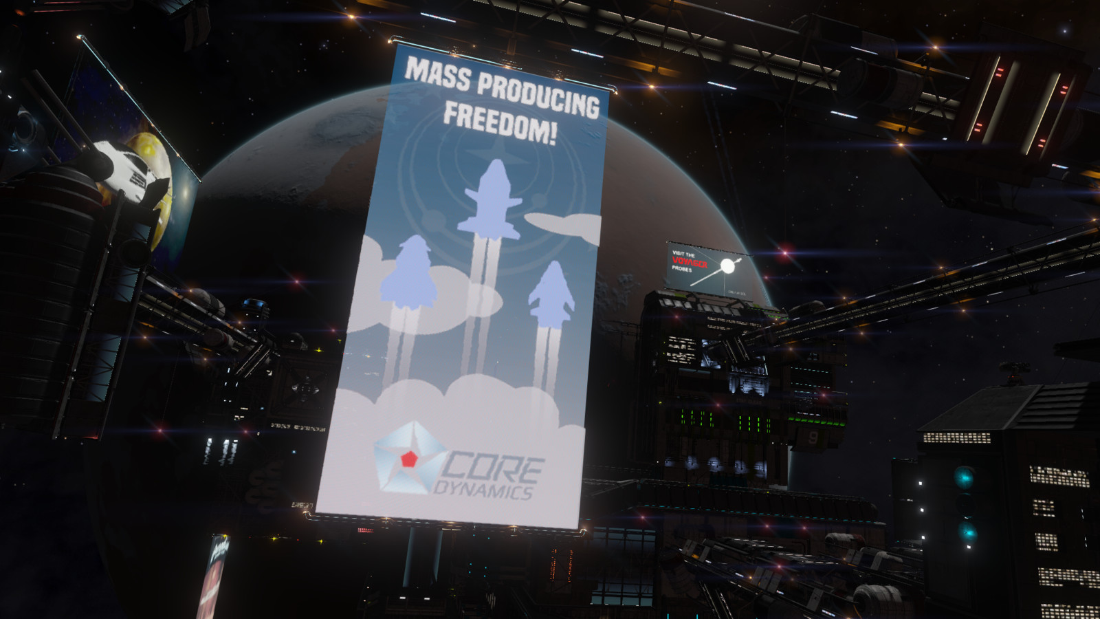 Mass Producing Freedom, in game.