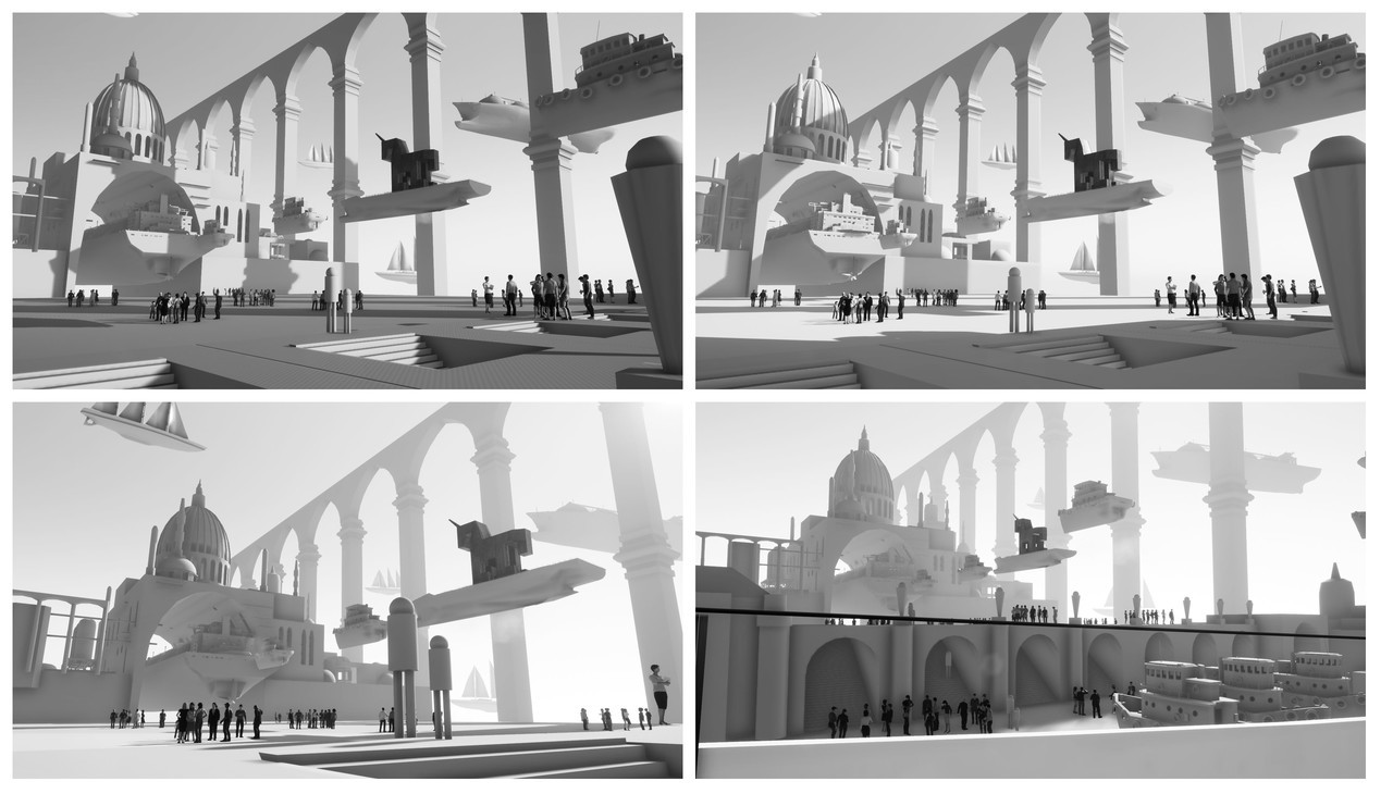 Final 3D blockout thumbnails.