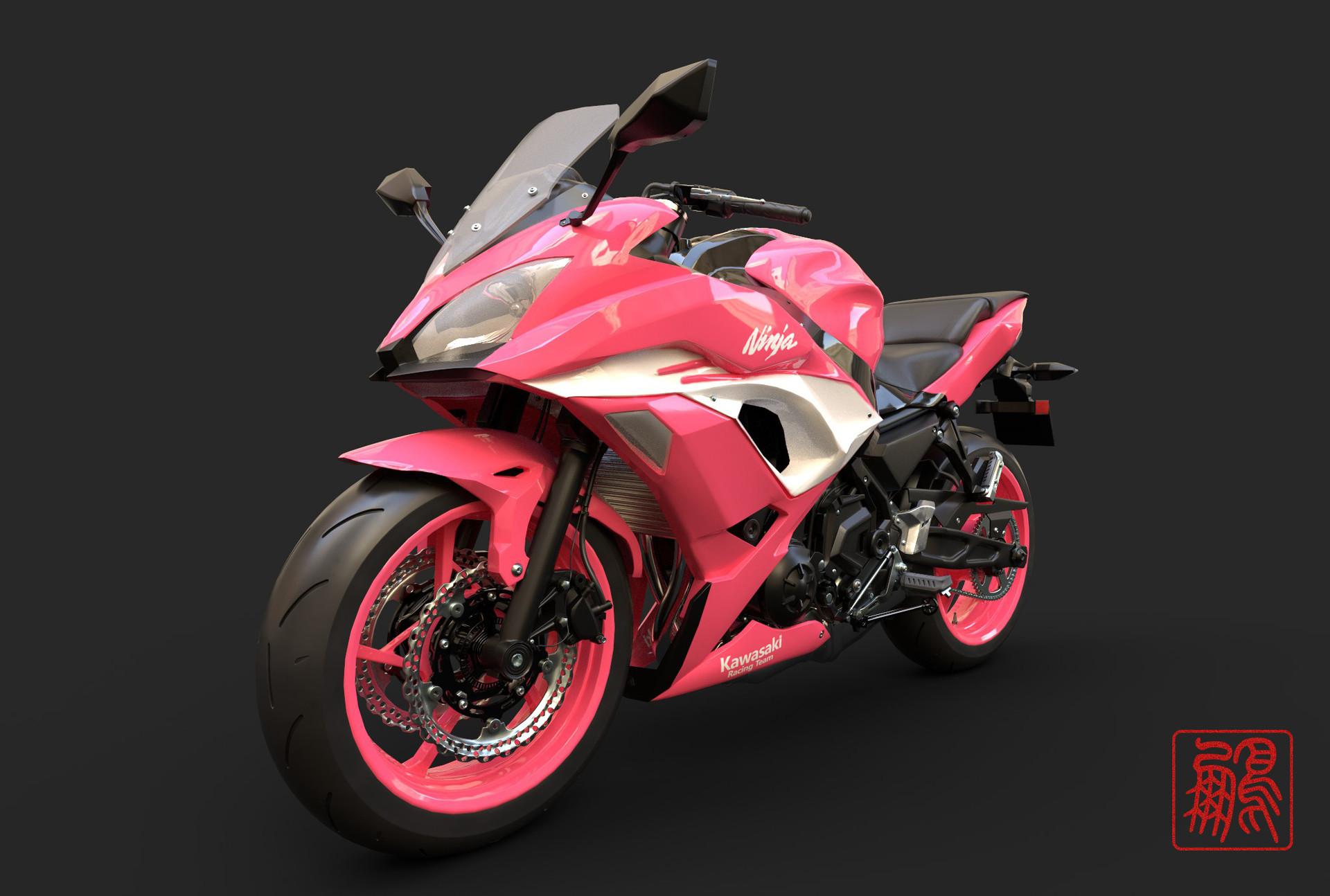 Artstation Motorcyclekawasaki Ninja 650 Abs Pink Lee Rock