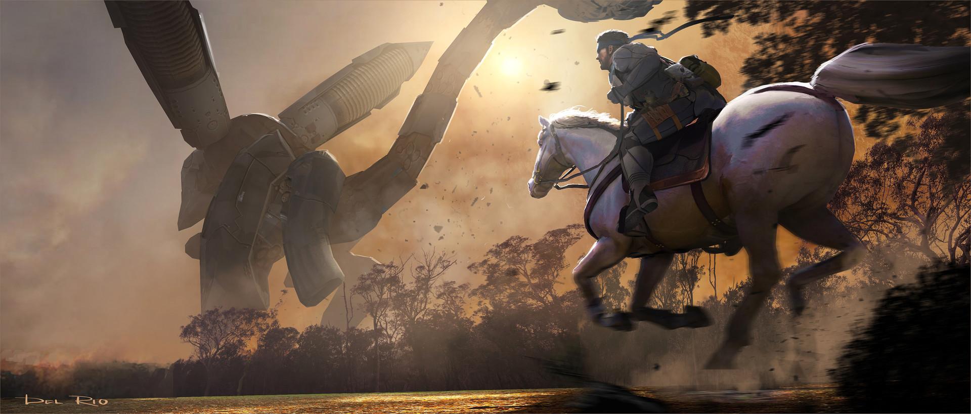 Eddie del rio snake on a horse
