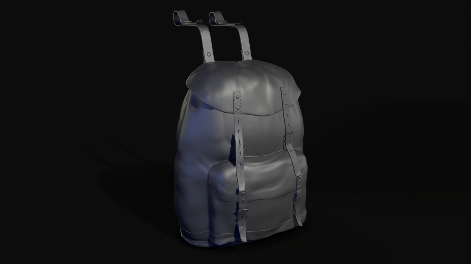 high poly backpack