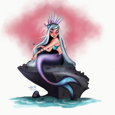 Niniel illustrator mermaid low