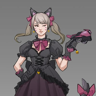 Llia yu black cat dva