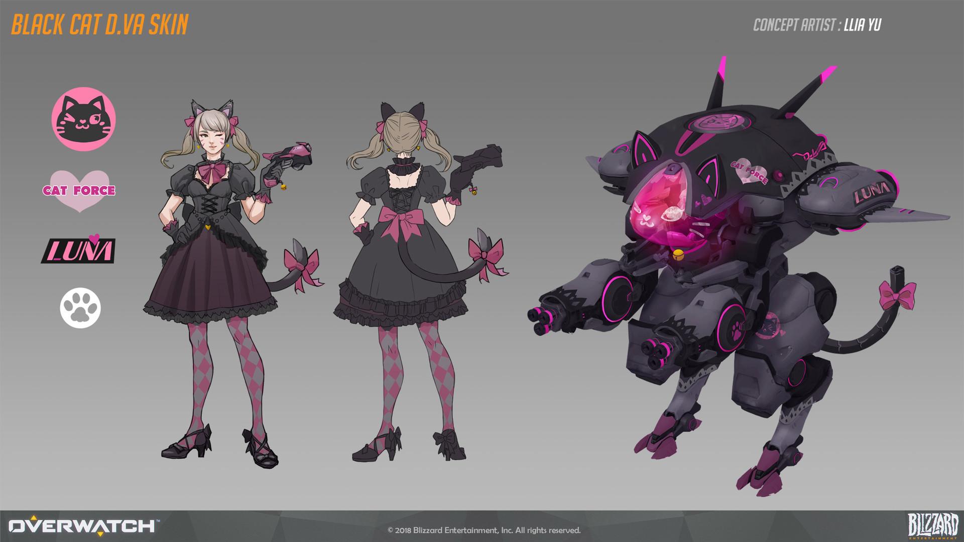 Llia yu black cat dva