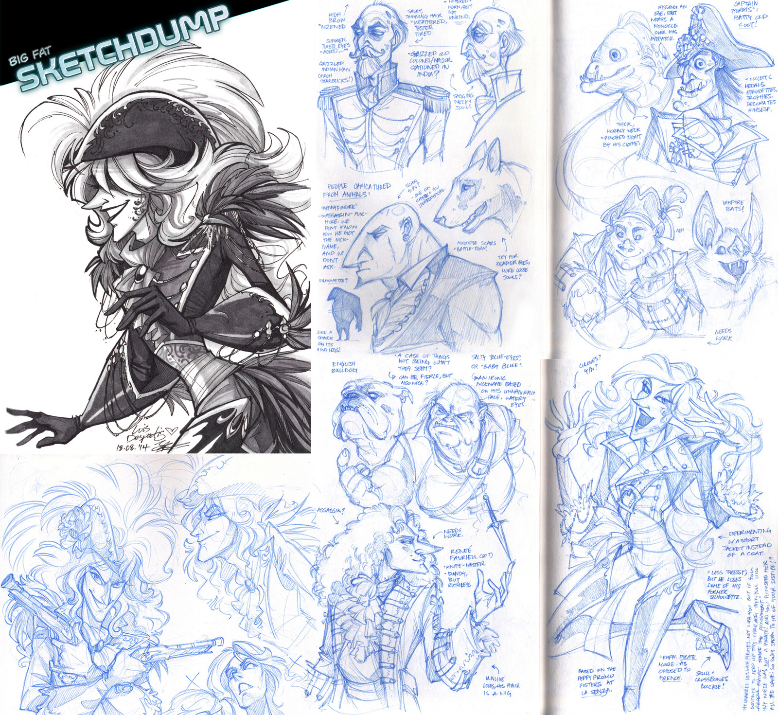 Sketchdump #1: Collection of explorations from sketchbook - (2015)