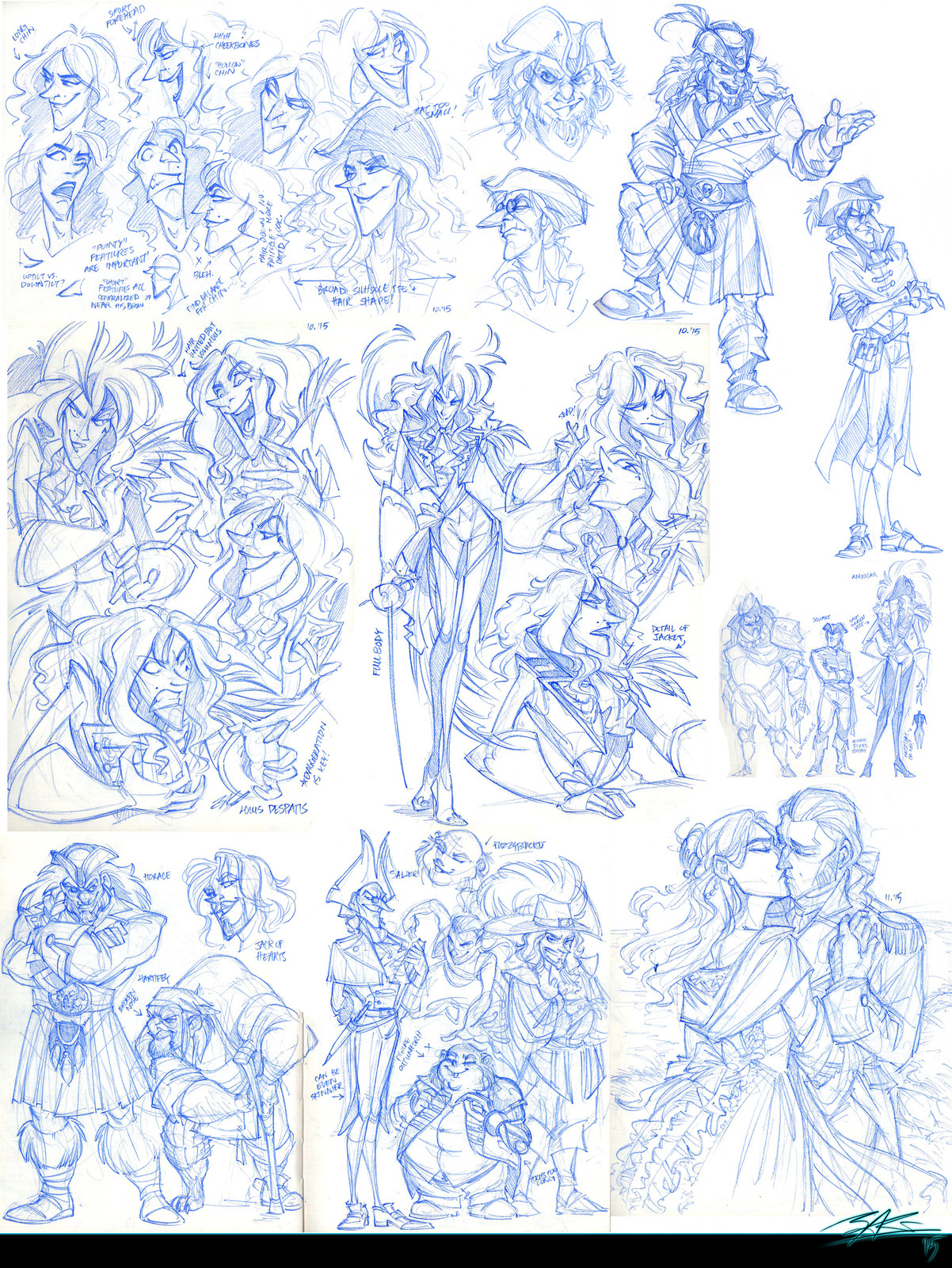 Sketchdump #3: Collection of explorations from sketchbook - (2015)