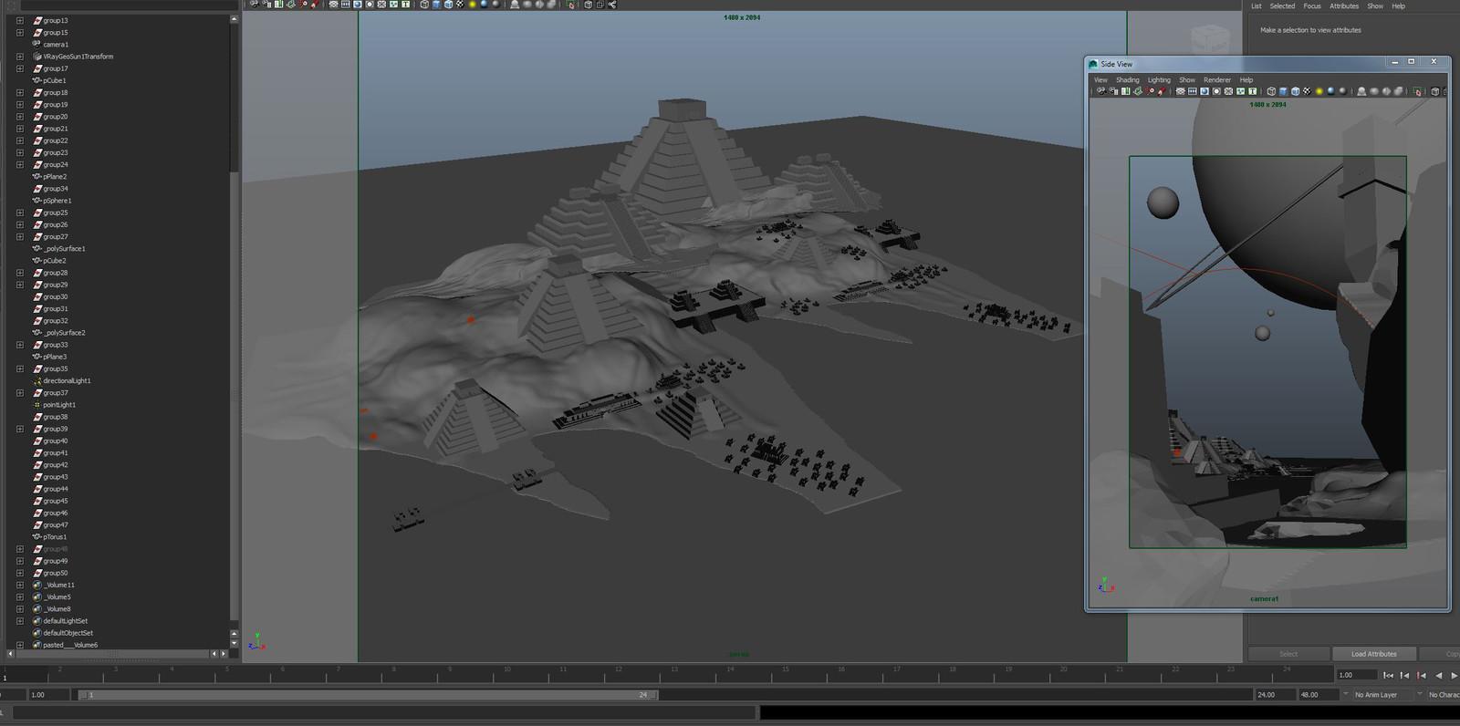 3D Base done in Maya