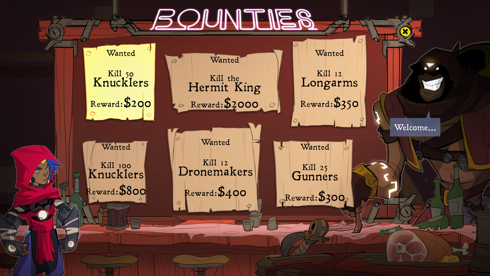 Big Bad Bounty | Bounty Board