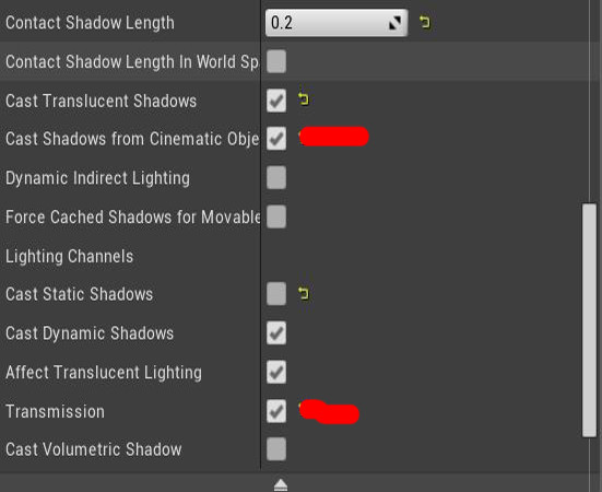 additional settings  -Needed to turn on Transmission to affect SSS and turned on Cinematic Shadows.