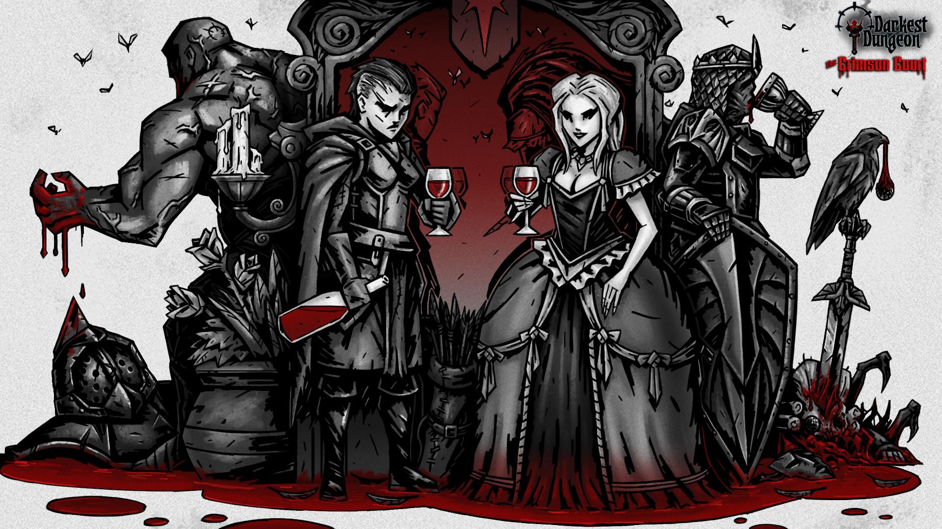 artstation darkest dungeon crimson court mod promo art
