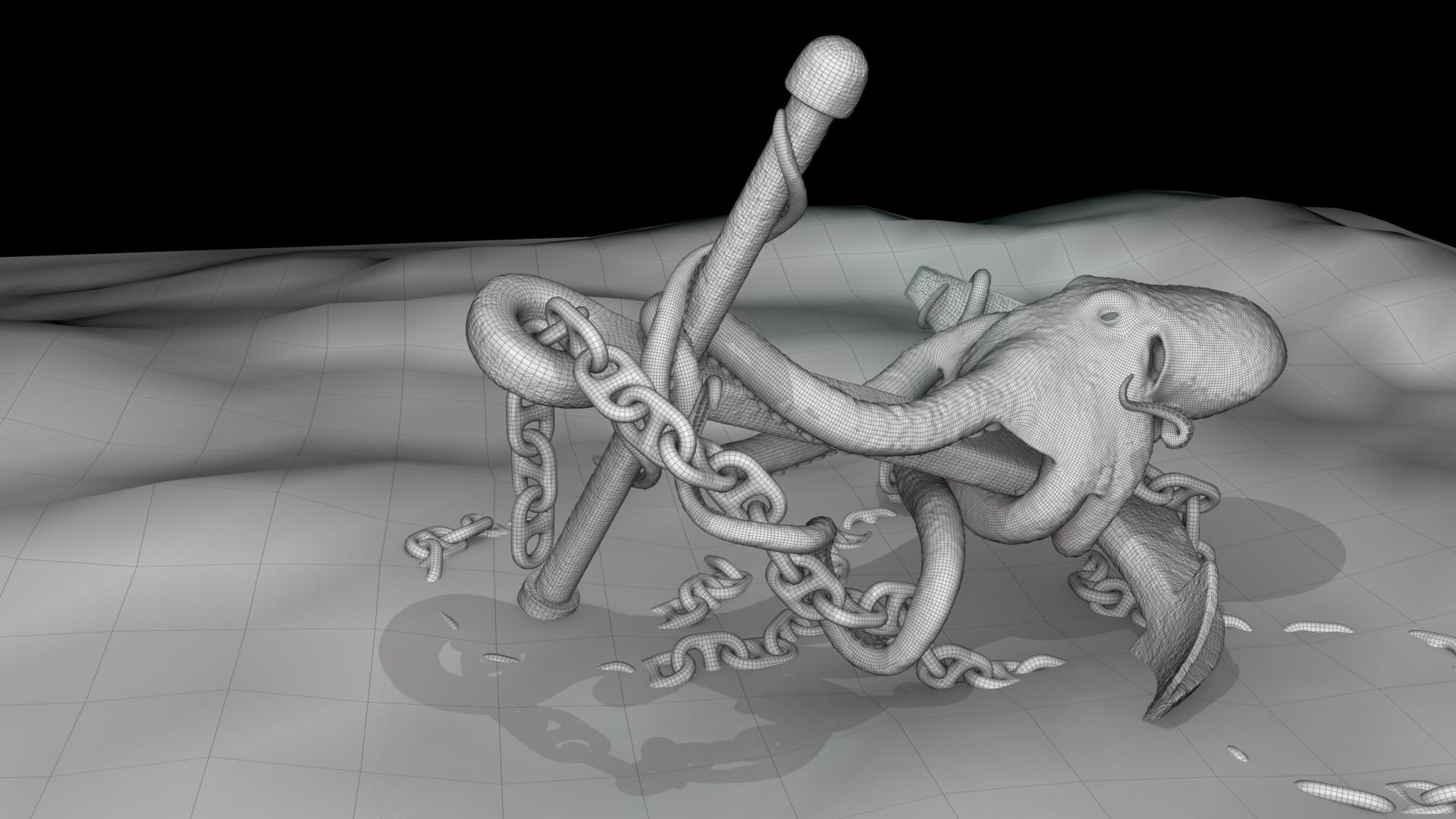 Josh mccann octopus 001 wireframe