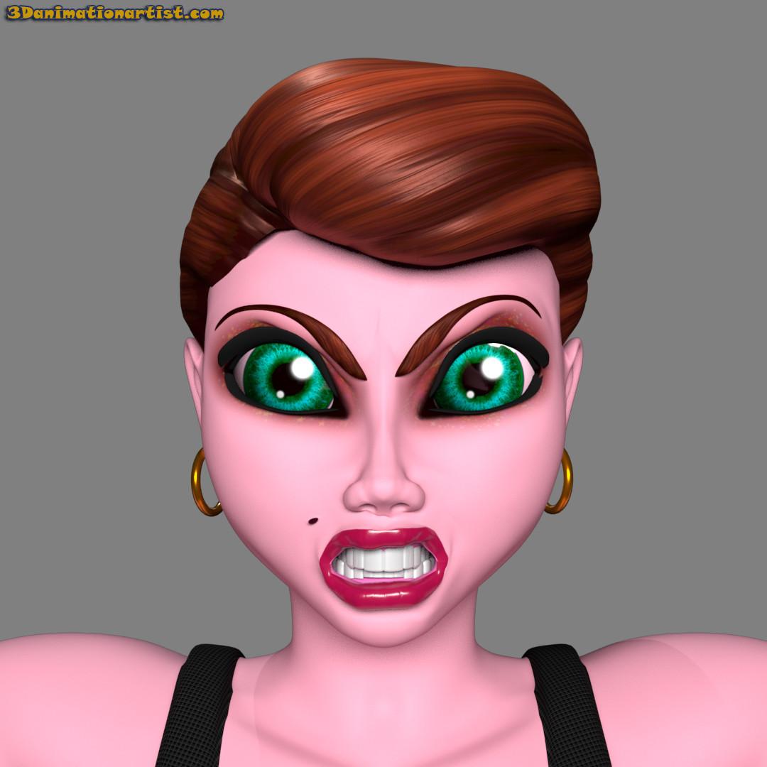 Copper Facial Expression Anger
