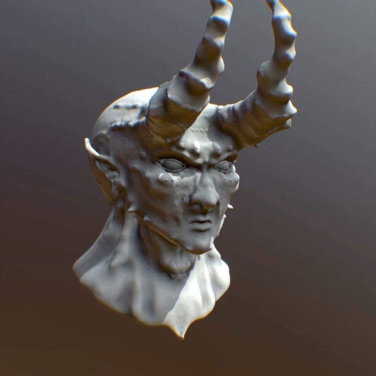 3D Demon Head