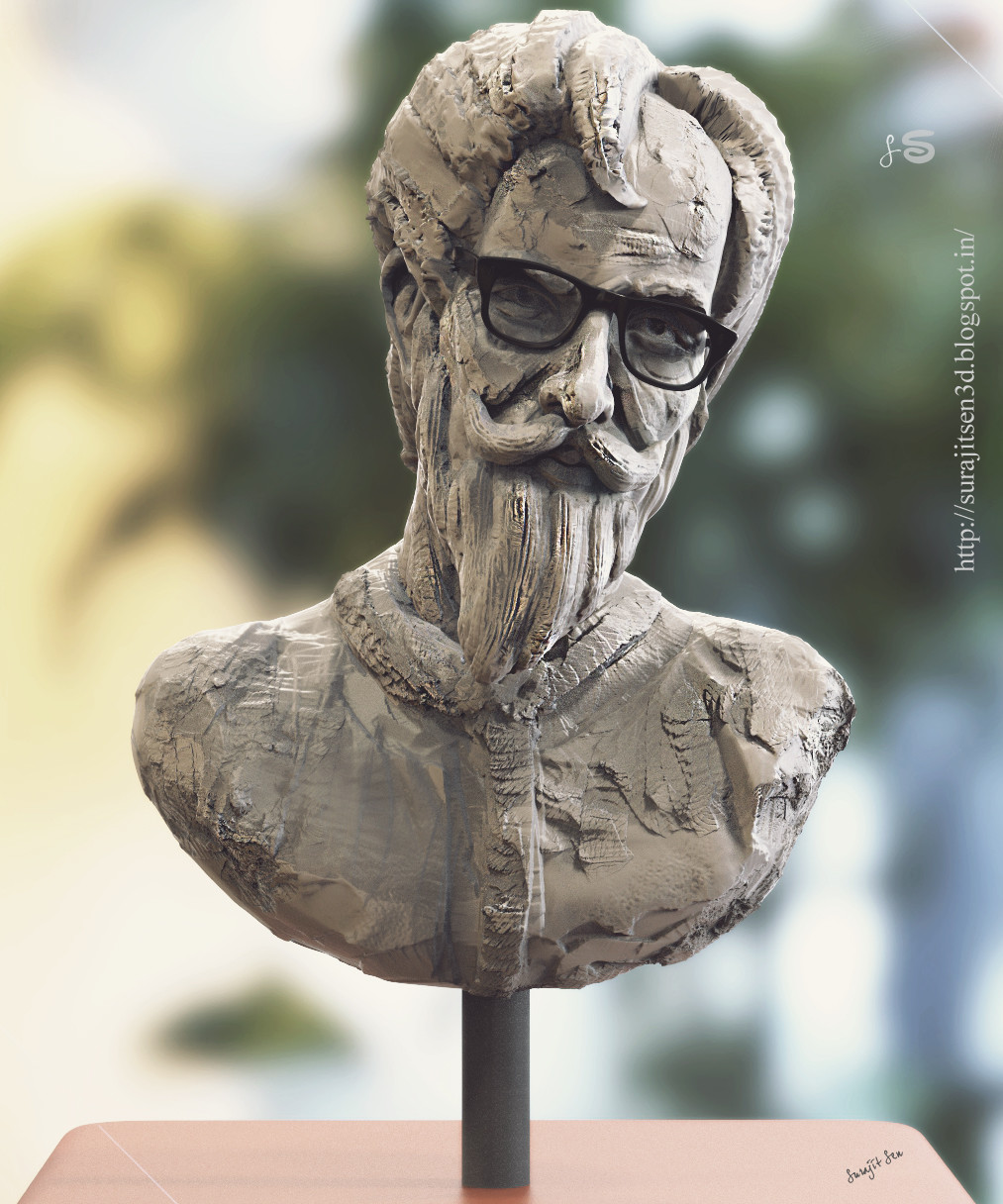 """#speedsculpt #study   Tried to make a form of a """"Professor"""". Wish to share."""
