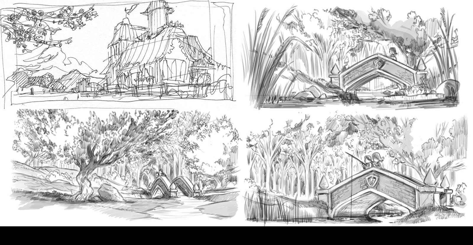 Environment Art Sketches
