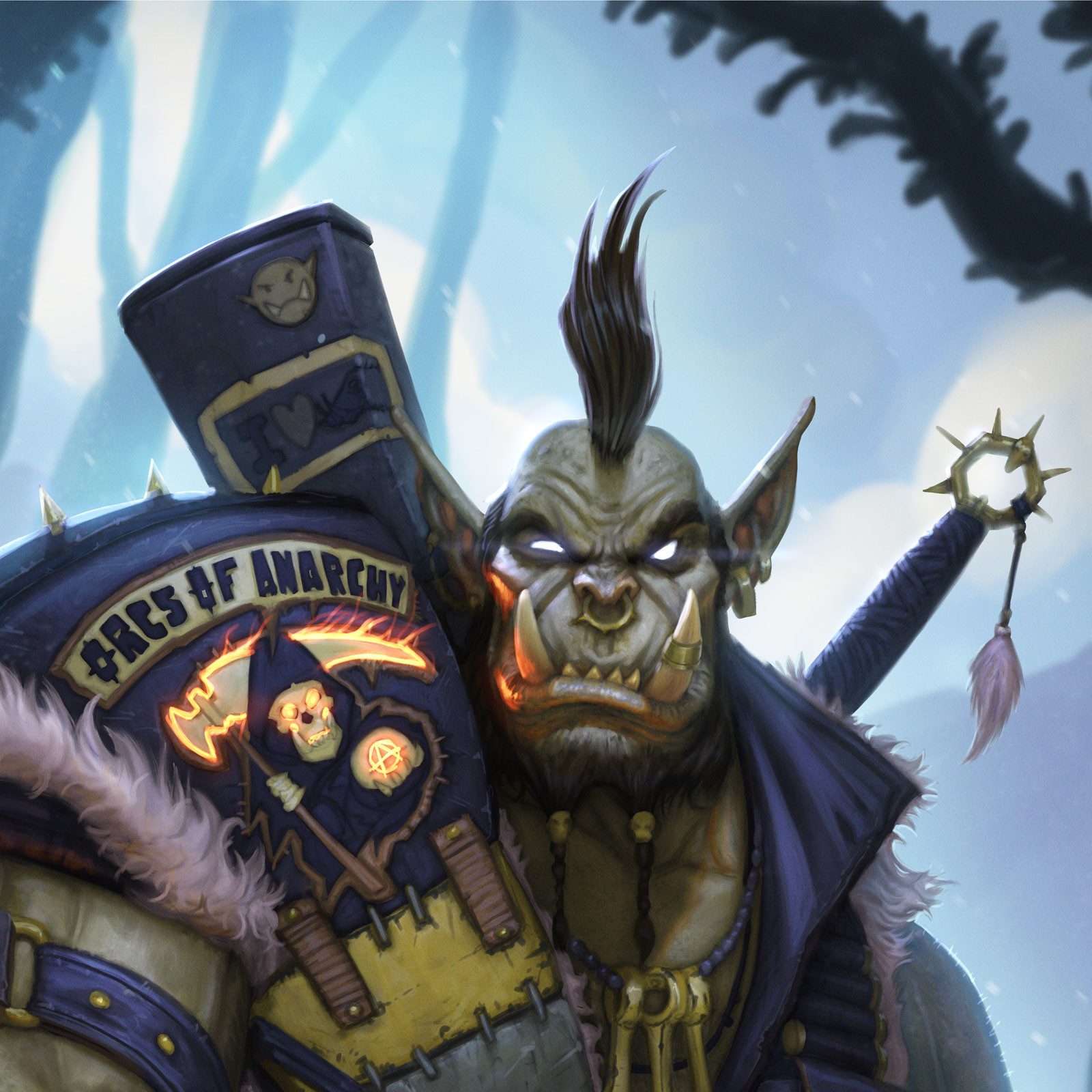 Rafael teruel thrall hearthstone blizzard by rafater close up