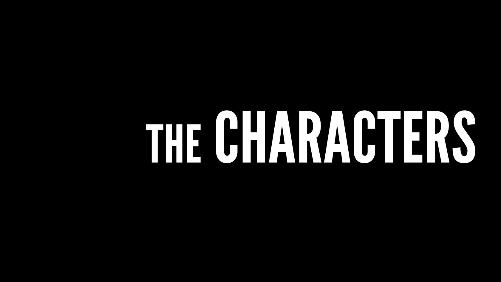 Timo peter screen the characters