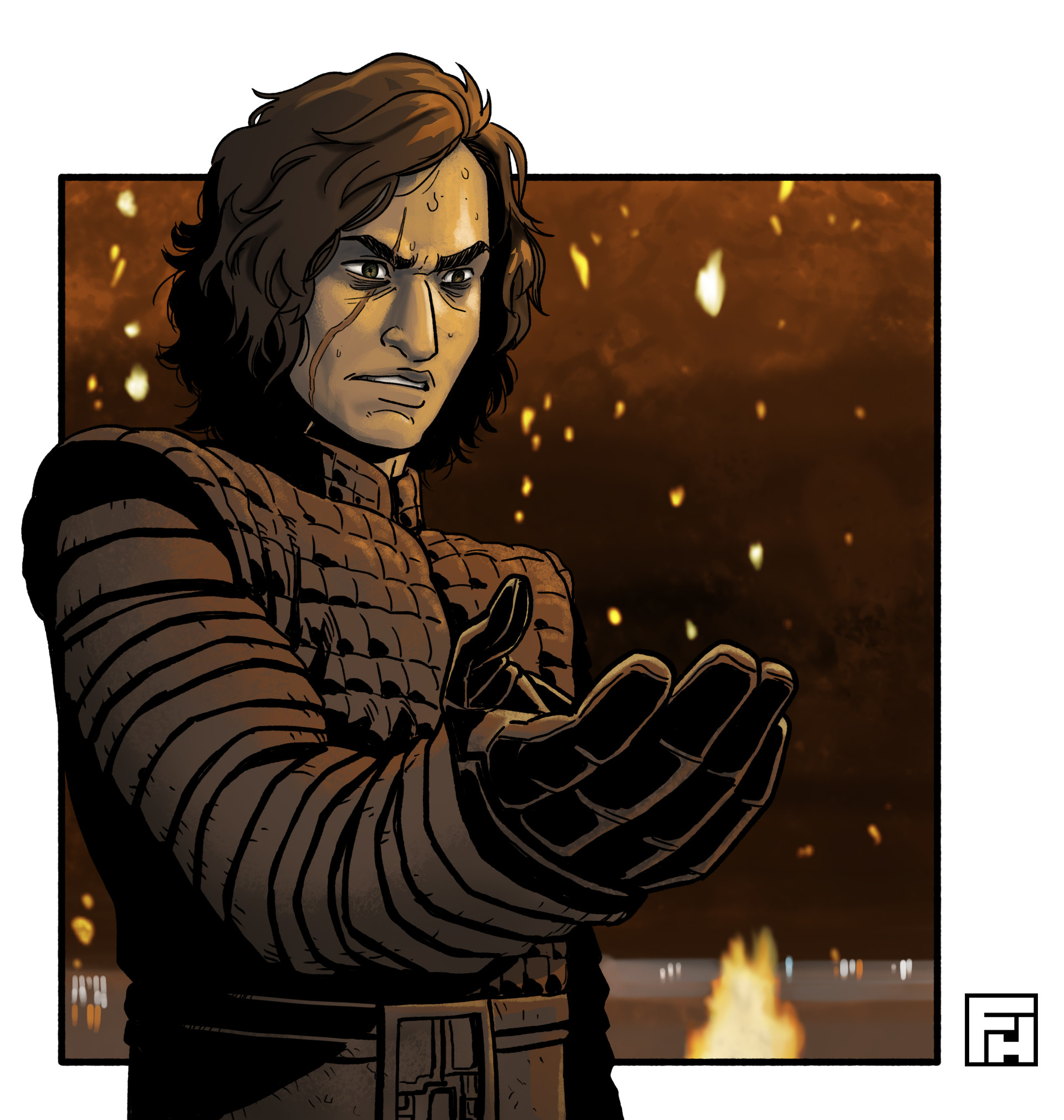 Fred hildebrand kylo ren color