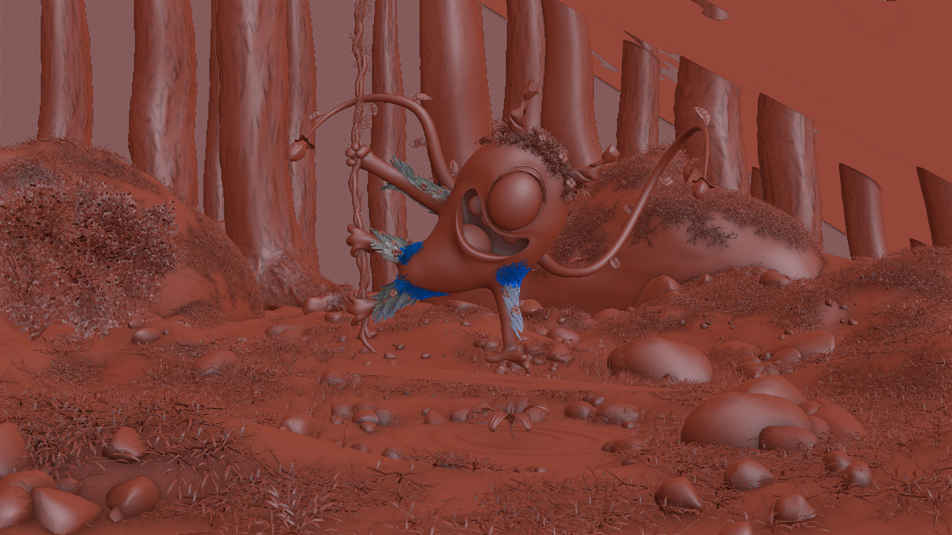 Pratik solanki forest creature clay