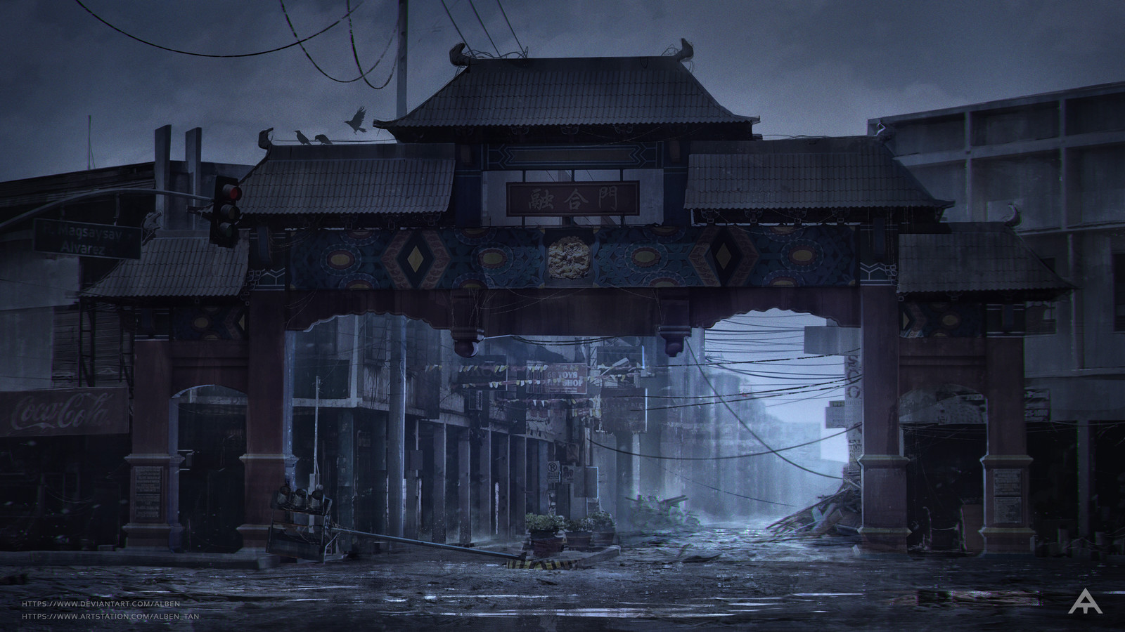 Abandoned Uyanguren Street - Concept Art