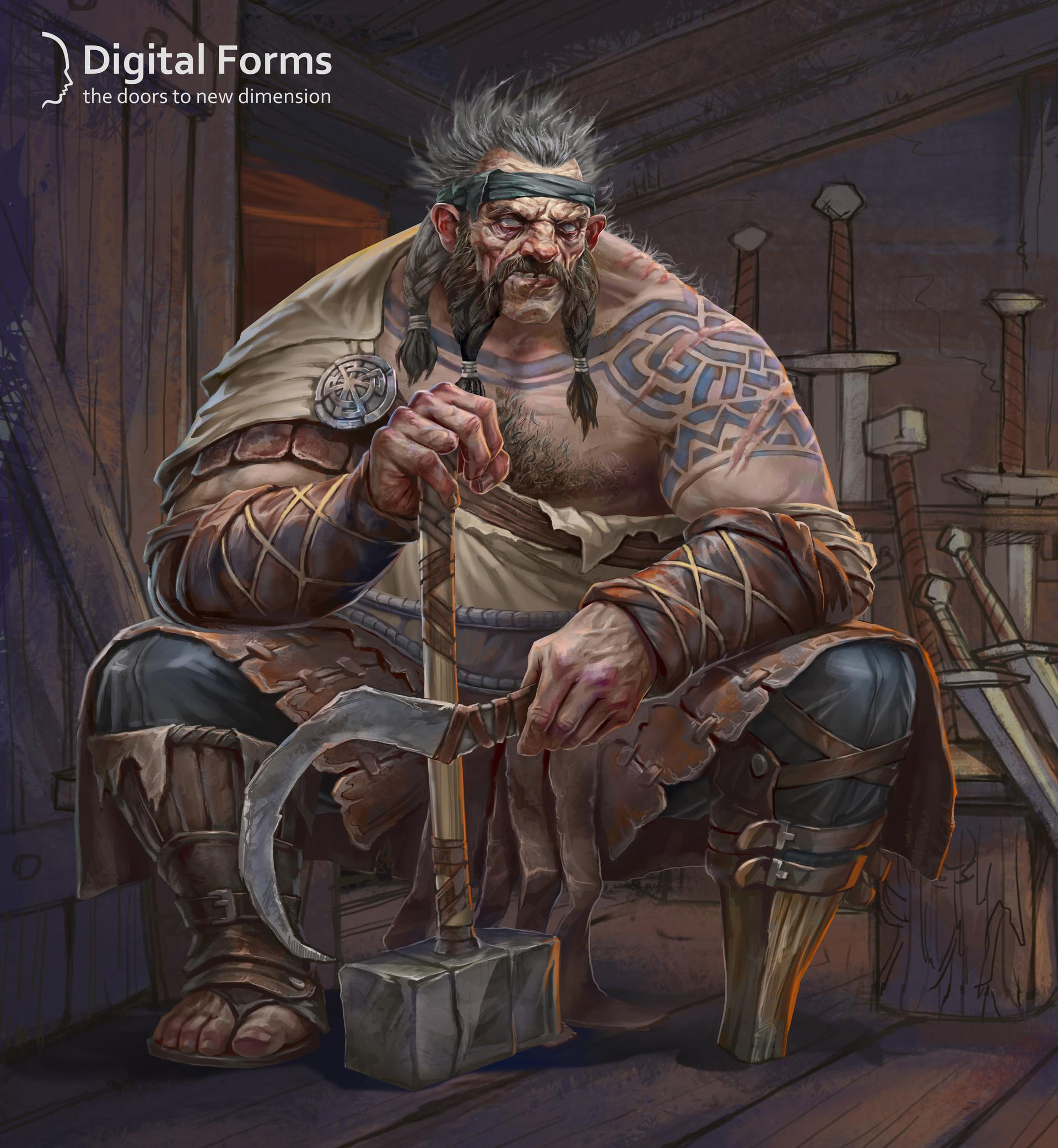 Digital forms blacksmithbackground