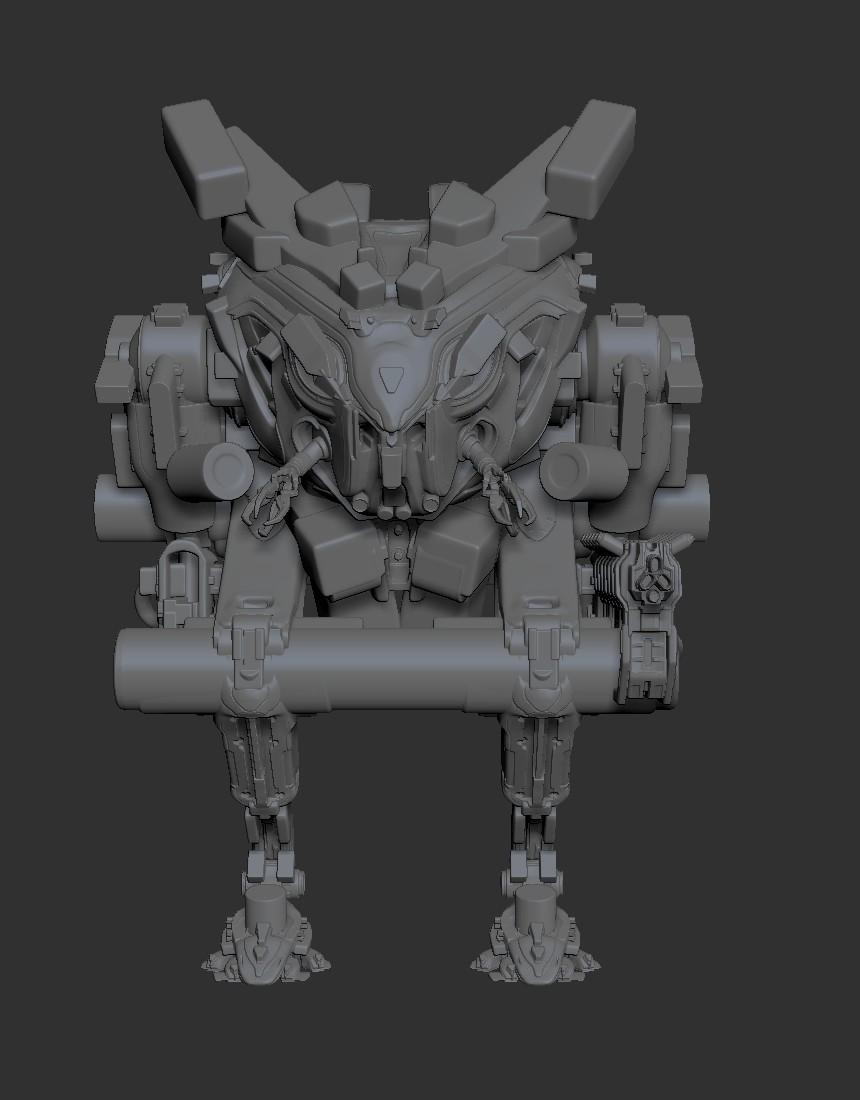 ZBrush Front Boolean (minus the gun)