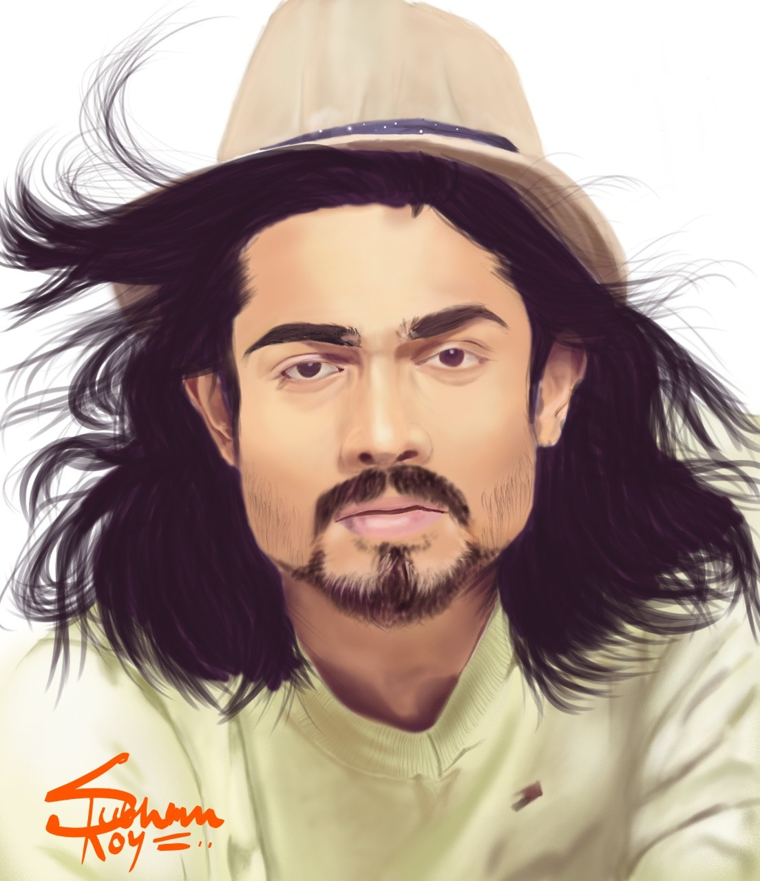 PORTRAIT OF BHUVAN BAM. THE GREAT INDIAN YOUTUBER.