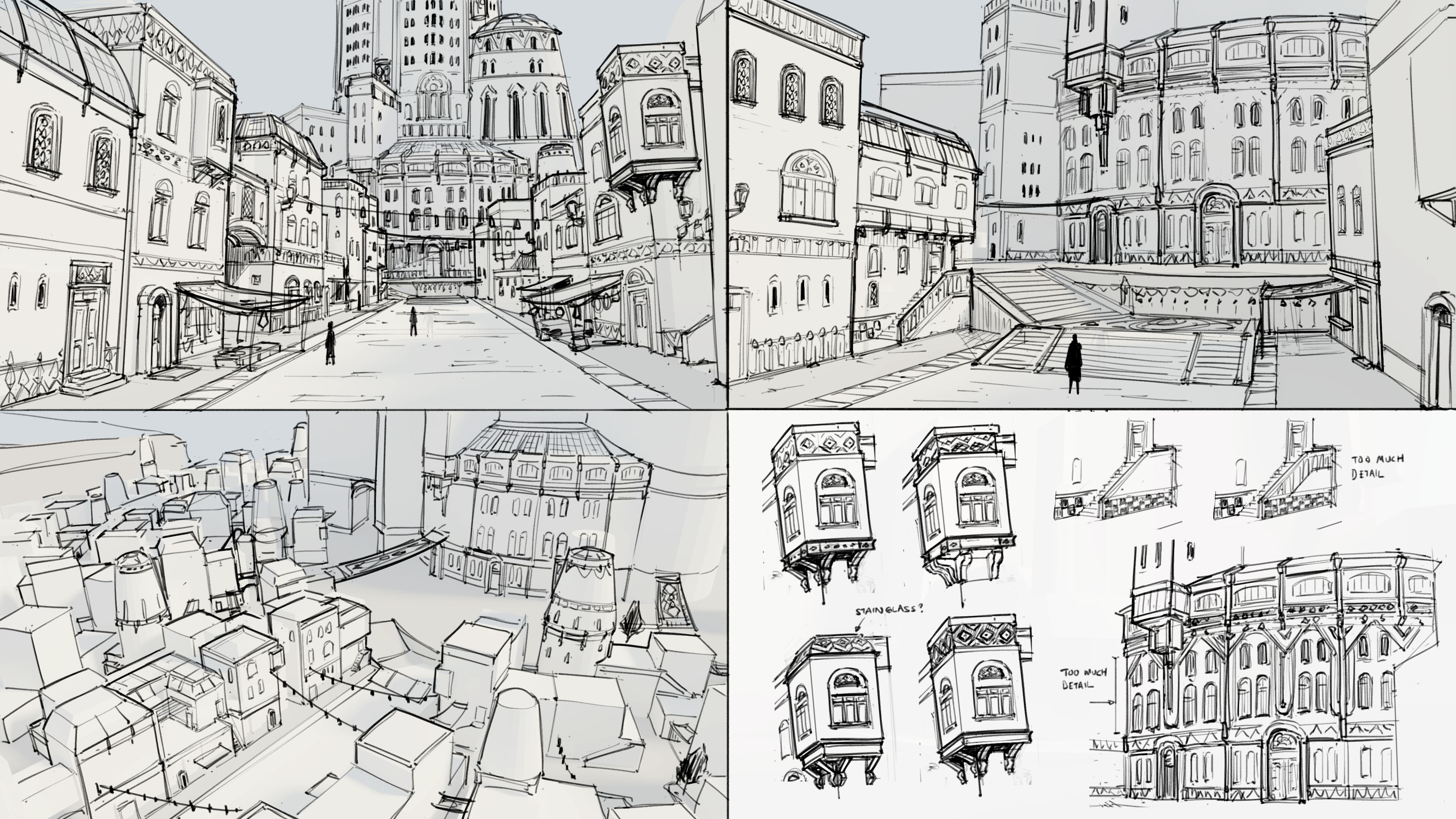 Design Sketches for the City Area
