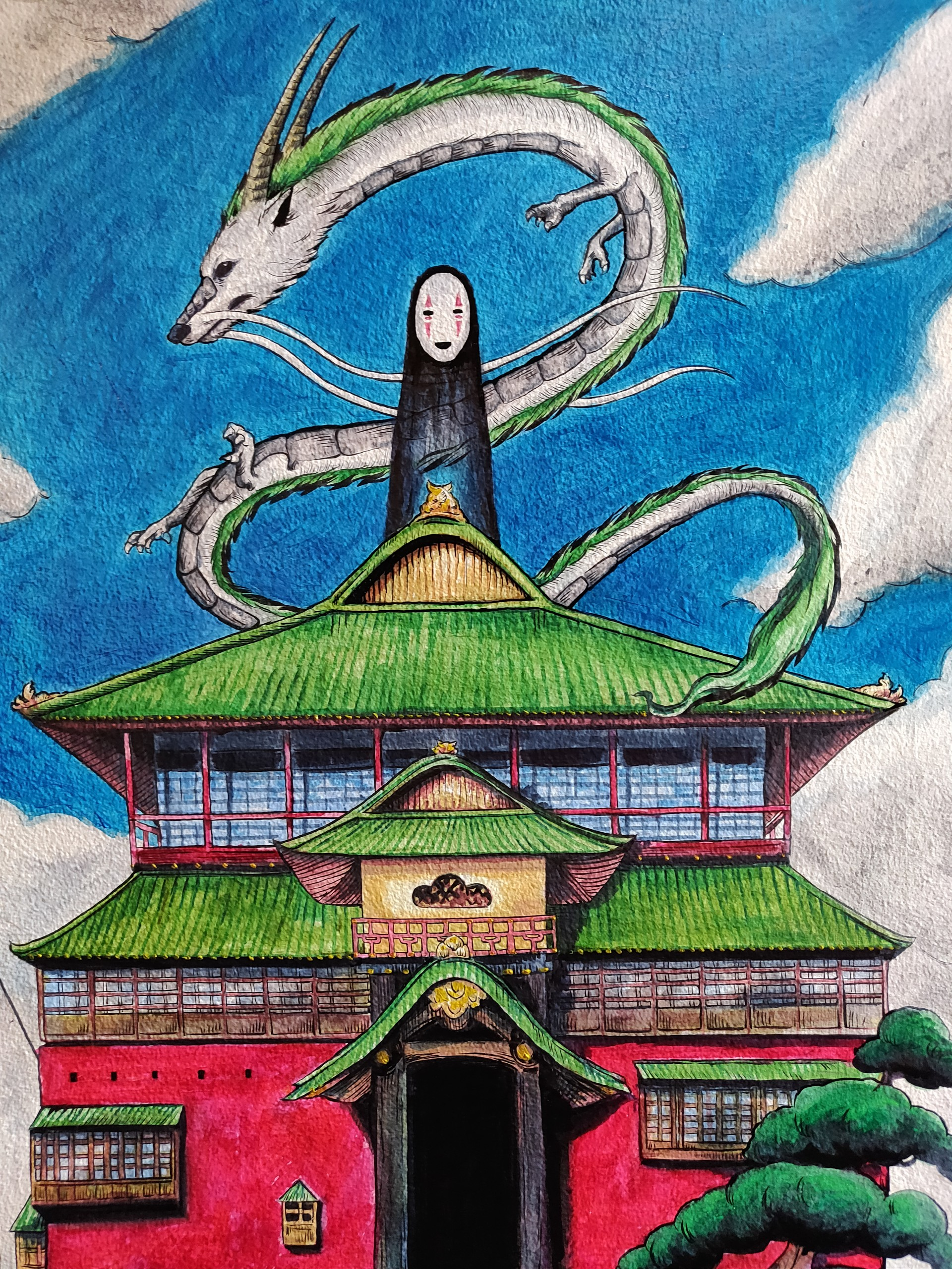 Artstation Spirited Away Wall Painting Monisha Miriam
