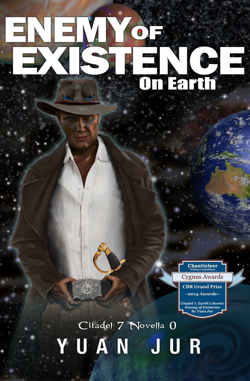 Enemy of Existence Enemy of Existence digital book cover art for sci-fi series Citadel 7 Enemy of Existence digital book cover design for sci-fi book series Citadel 7 by Yuan Jur. Character development & concept art ofthe character Uniss.