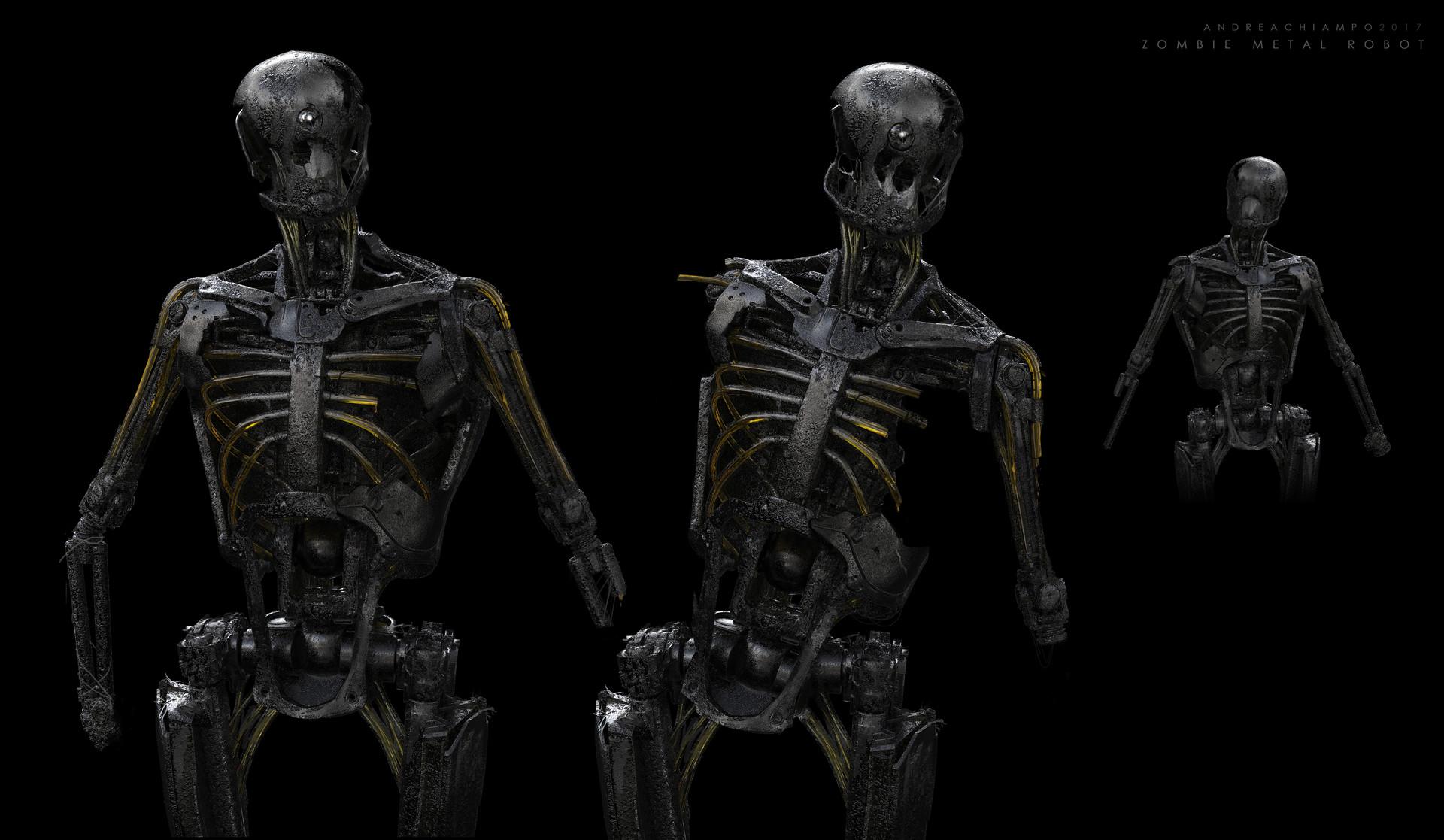 Andrea chiampo andrea chiampo concept design 8 zombie metal robot new