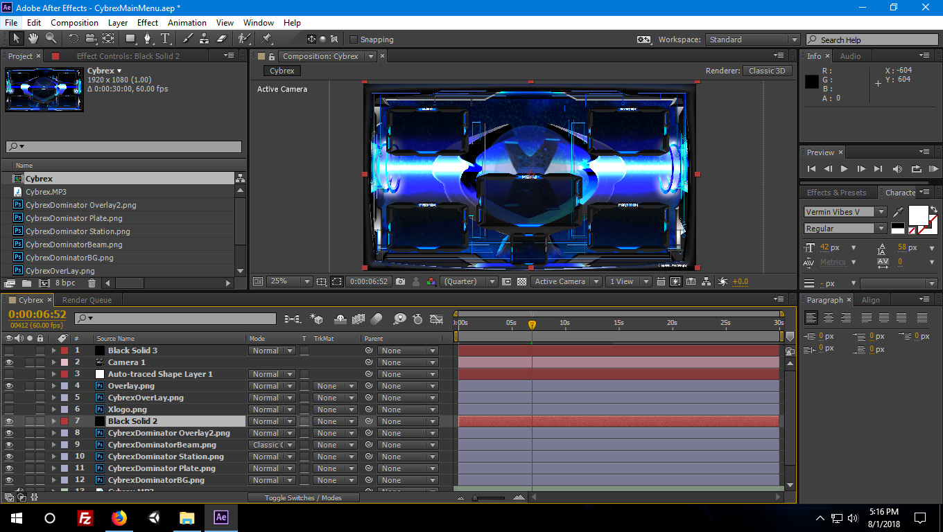 Background video animation in after effects