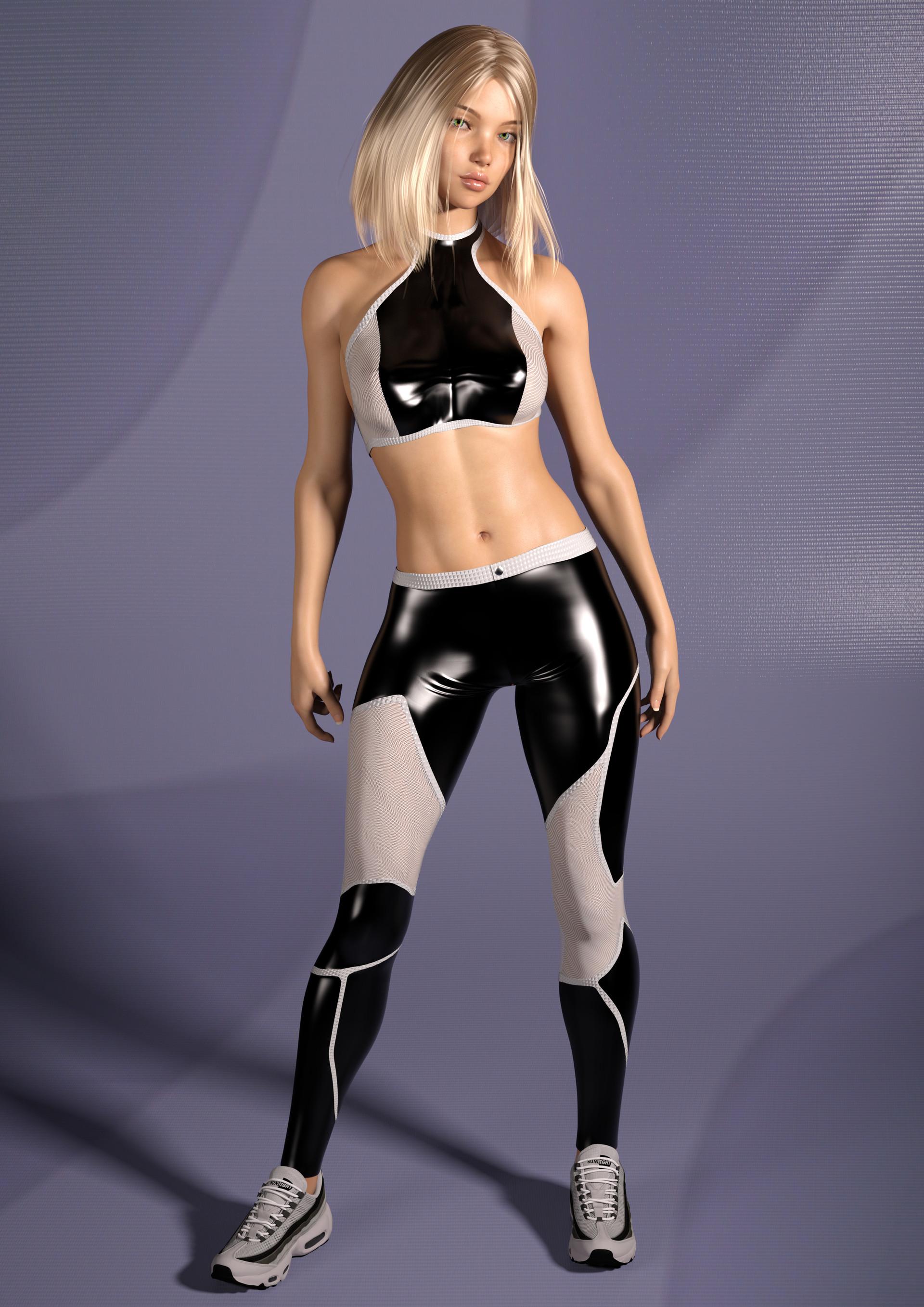 Fleet - she's a speedster and wears running gear a lot.