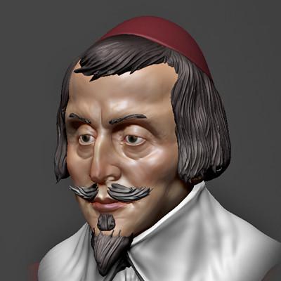 Cardinal Richelieu sculpt