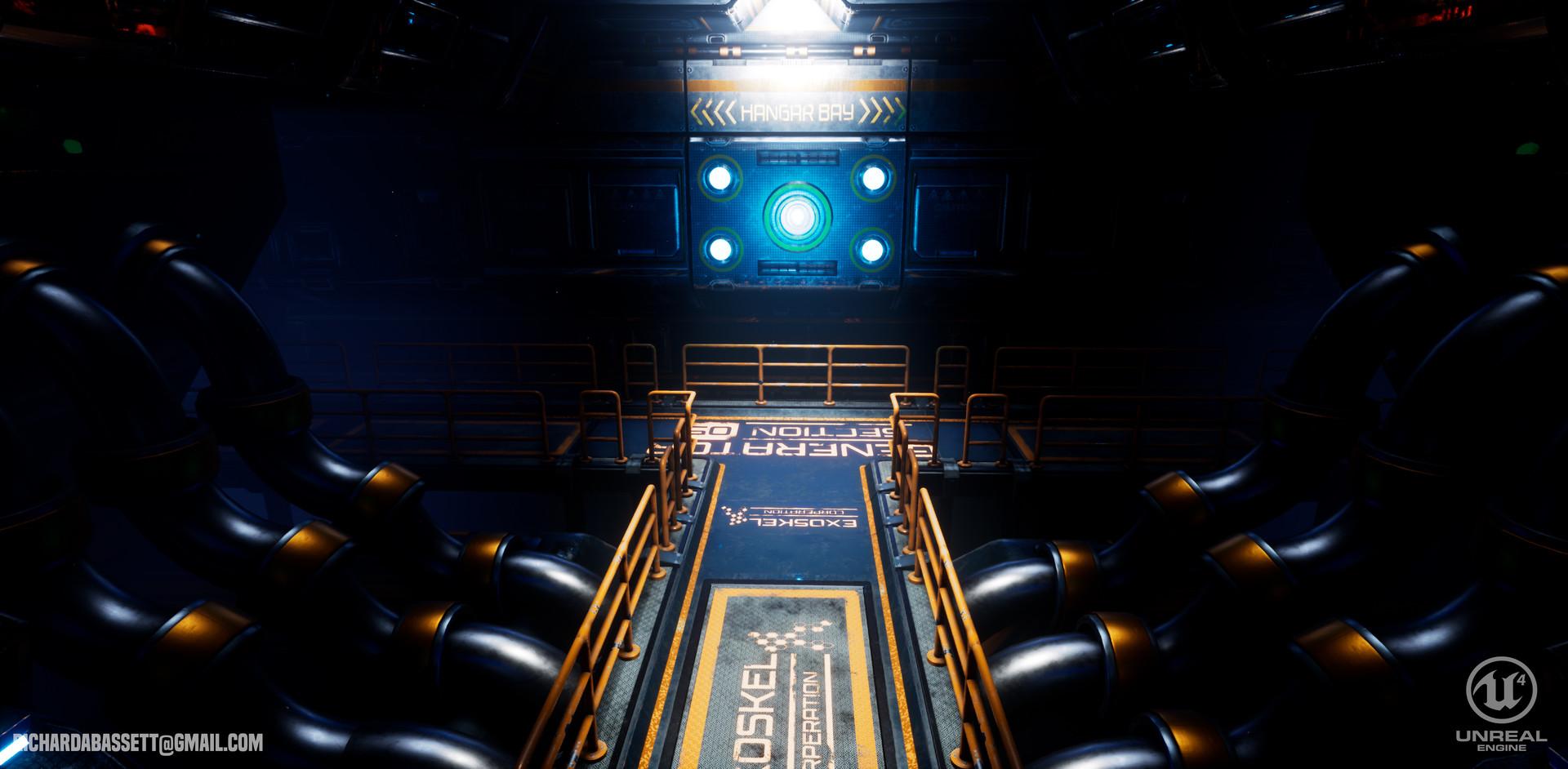 Richie Bassett - Sci Fi Environment Scene (Generator Hallway)