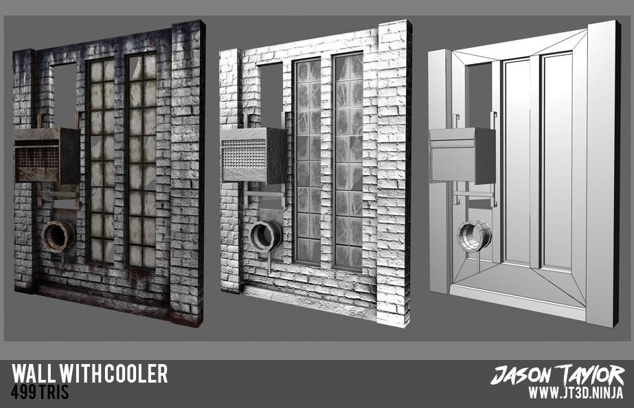Modular warehouse wall with AC.