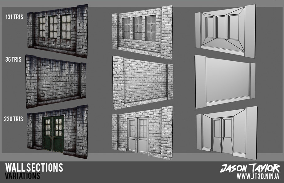 Modular warehouse wall sections.