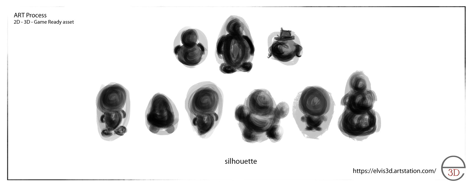 playing with different size shape silhouettes