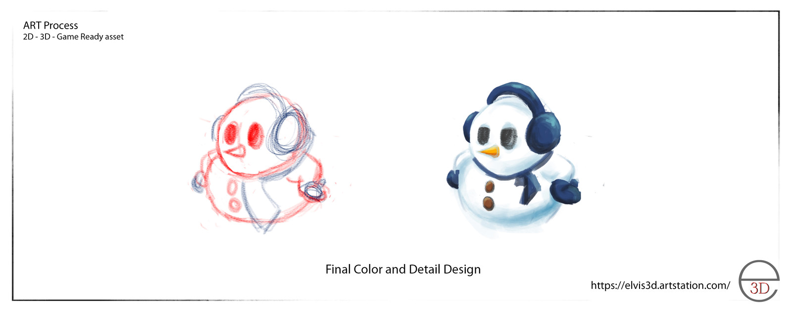 2D Line work and 2D Color Study