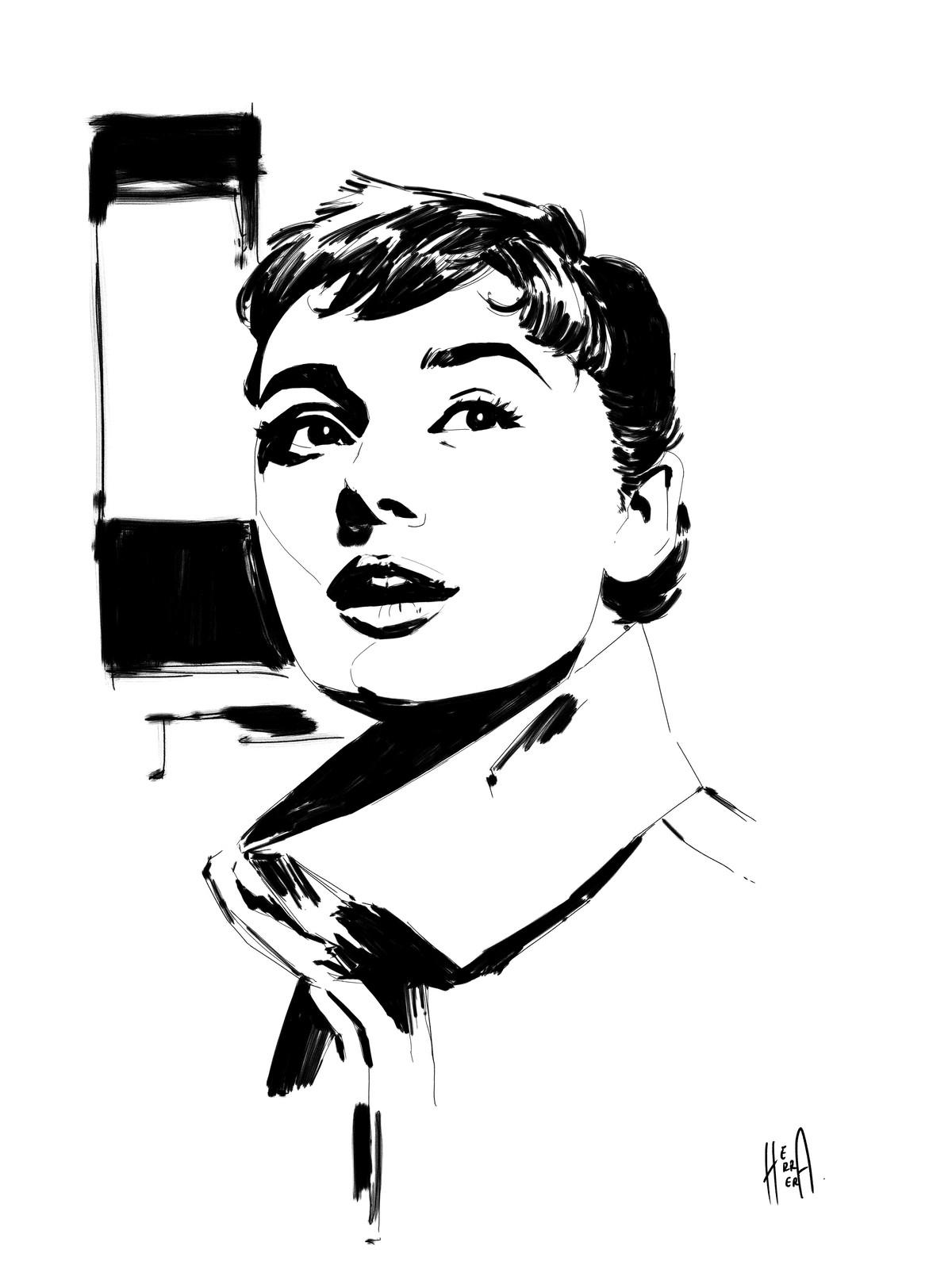 Sketch Audrey Hepburn