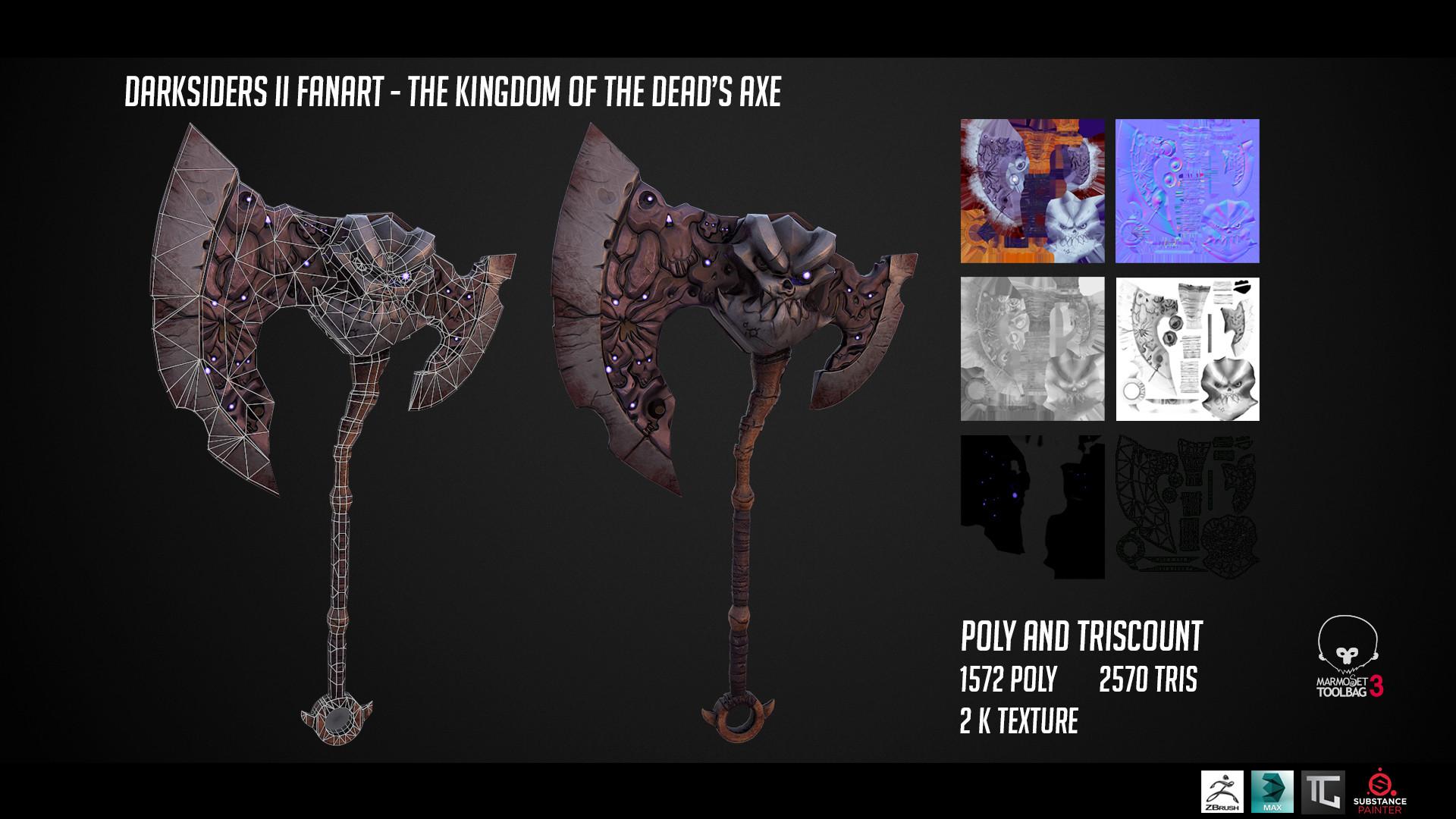 ArtStation - [Fanart] Darksiders II - Kingdom of The Dead Axe, Ivan