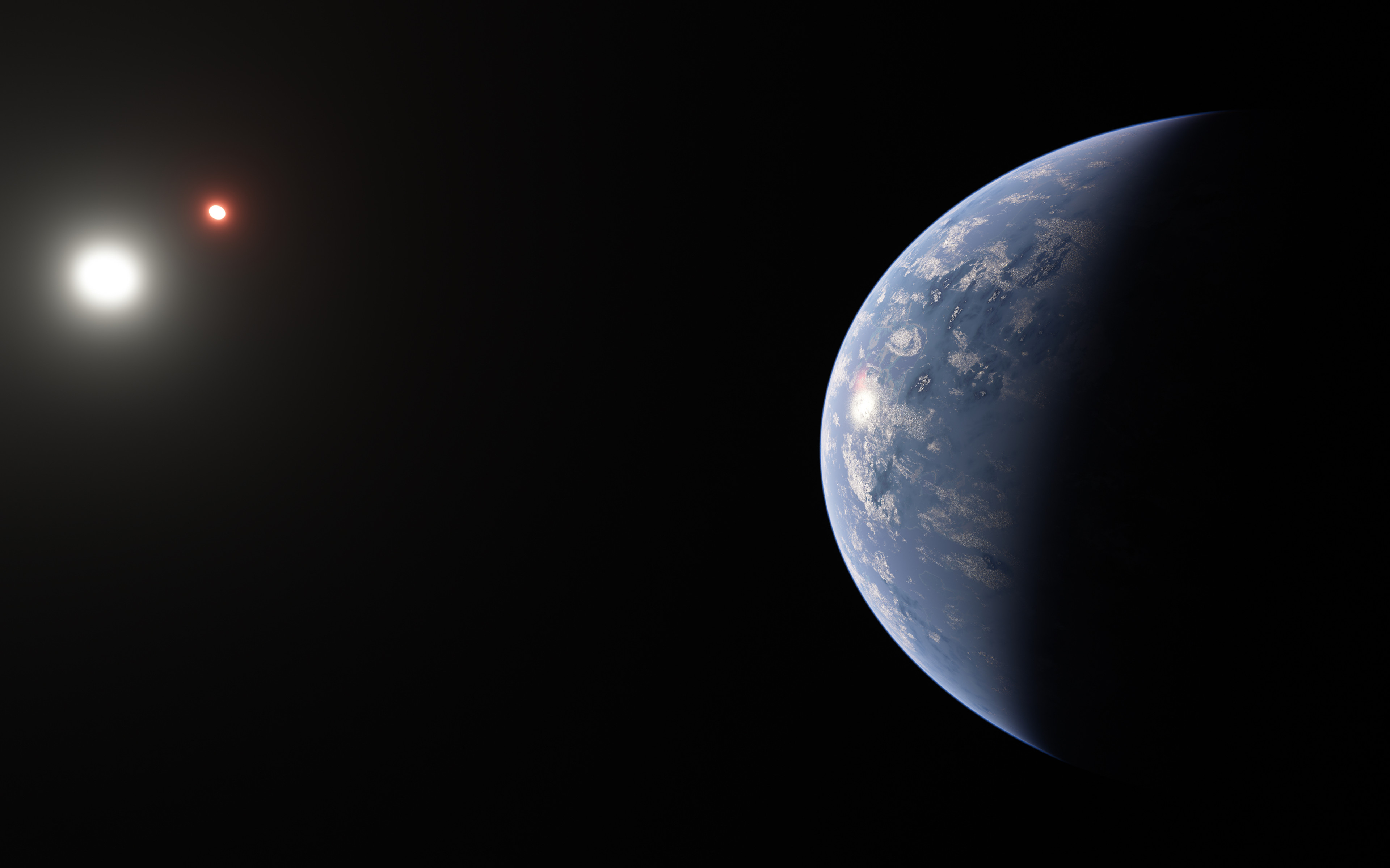 potentially habitable exoplanet around two stars