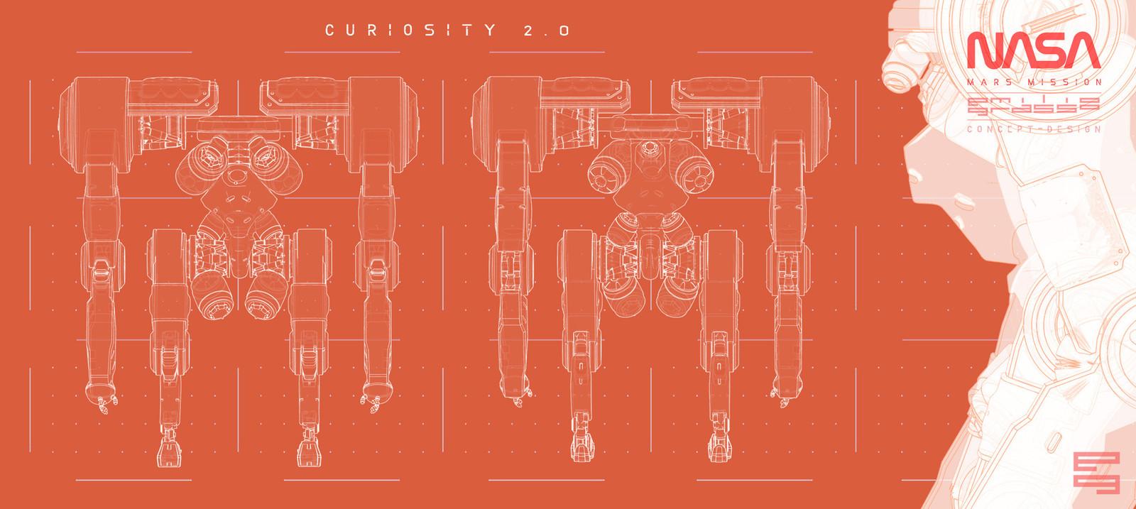 CURIOSITY 2.0 - Oragne Print