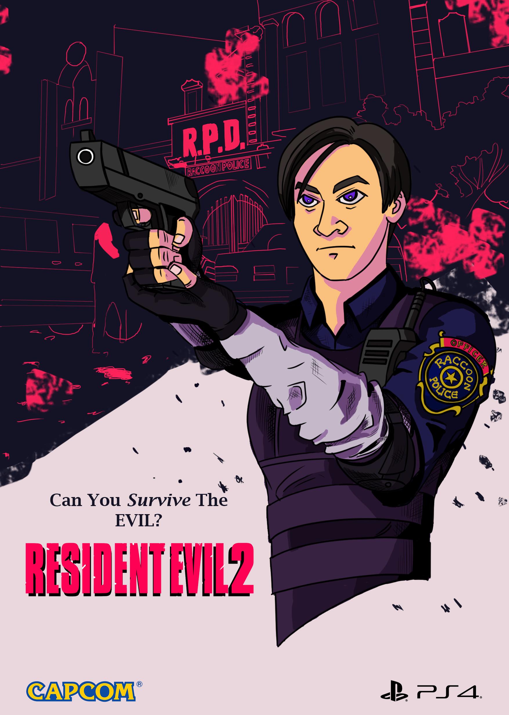 Artstation Resident Evil 2 Remake M Rizal Maulana
