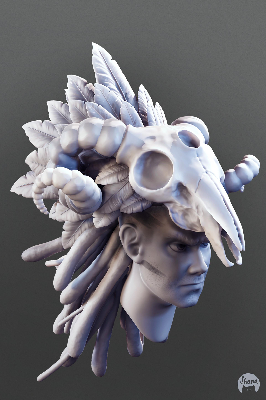 Shana vandercruysse skull sculpt