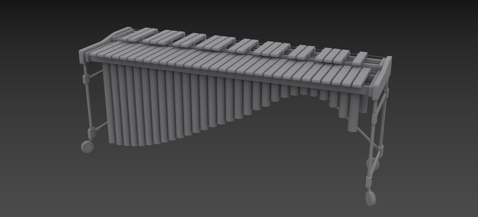 High-poly model of a Marimba