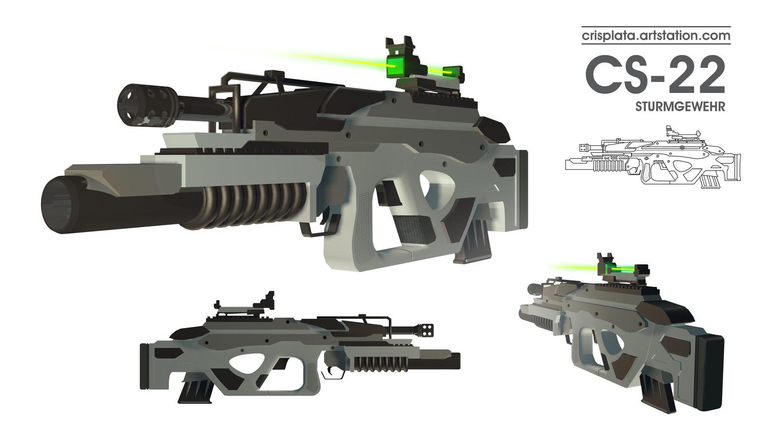 CS-22 Assaullt Rifle Personal Project - Unnamed 2018
