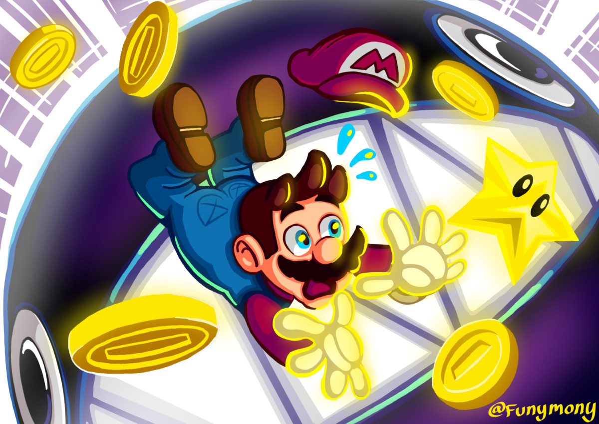 I wanted to draw Mario getting attacked by a chain chomp.