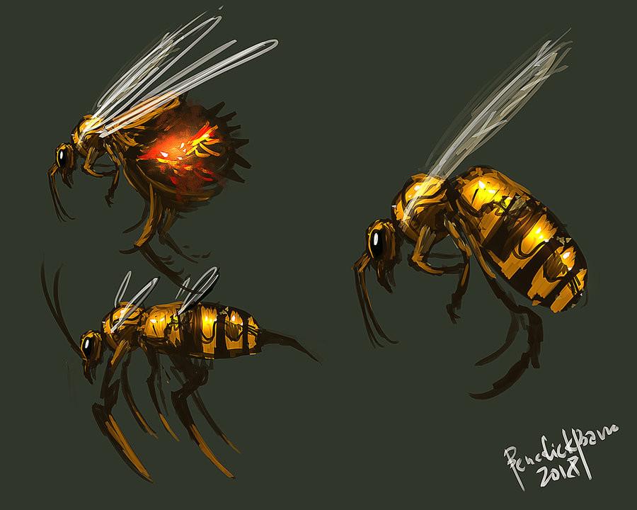 Benedick bana bee creature design 2018 by benedickbana dcisee5