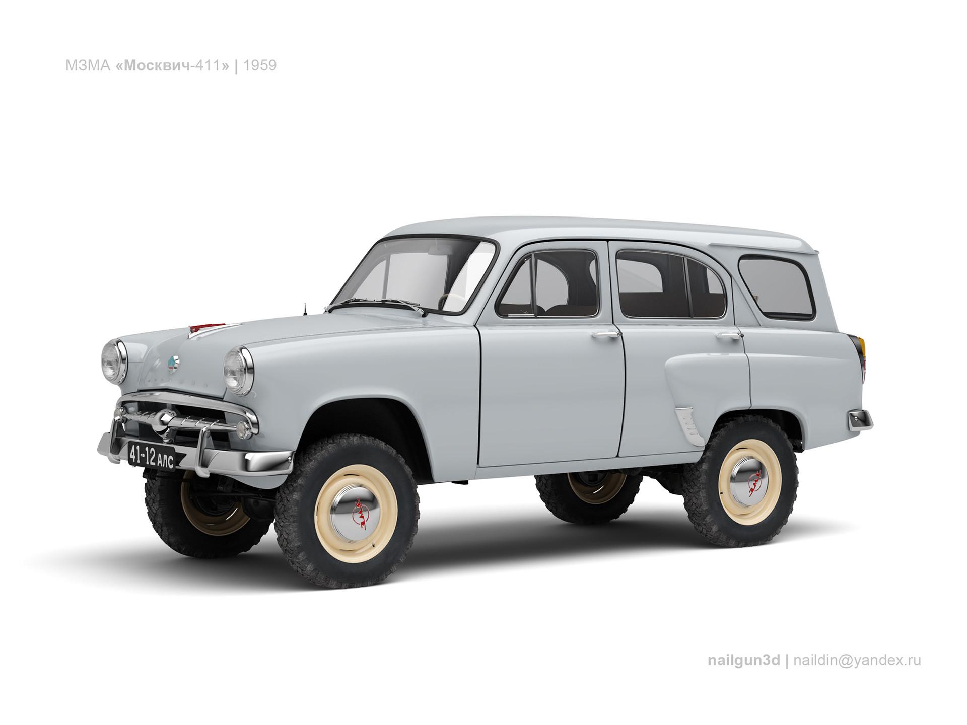 Nail khusnutdinov ussr moskvich 411 1959 0
